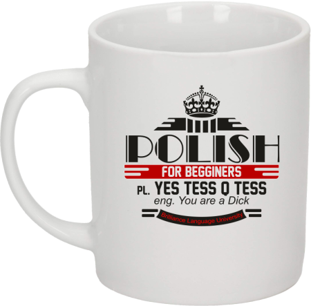 Polish for begginers Yes Tess Q Tess - Kubek ceramiczny