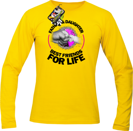 Father & daughter best friends for life - Longsleeve męski