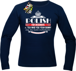 Polish for begginers Teas Who You Yeah Bunny - Longsleeve męski granat