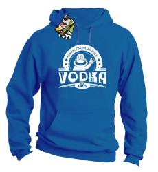 Vodka Always Drunk as Fuck - Bluza męska z kapturem niebieska