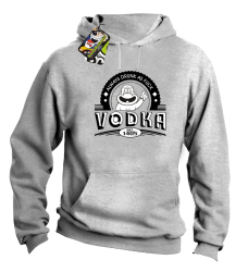 Vodka Always Drunk as Fuck - Bluza męska z kapturem melanż