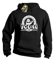 Vodka Always Drunk as Fuck - Bluza męska z kapturem czarna