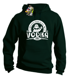 Vodka Always Drunk as Fuck - Bluza męska z kapturem butelkowa