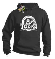 Vodka Always Drunk as Fuck - Bluza męska z kapturem szara