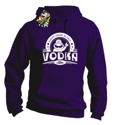 Vodka Always Drunk as Fuck - Bluza męska z kapturem fiolet