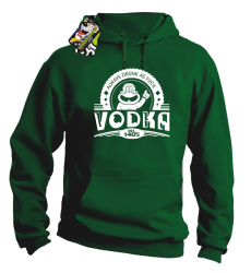 Vodka Always Drunk as Fuck - Bluza męska z kapturem zielona