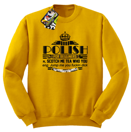 POLISH for begginers Scotch me tea who you - Bluza męska standard bez kaptura