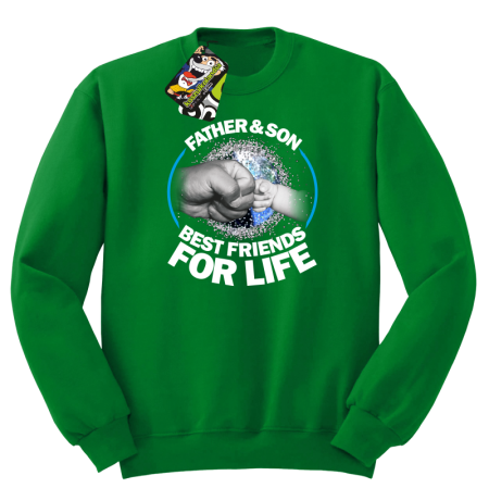 Father & son best friends for life - Bluza męska z STANDARD
