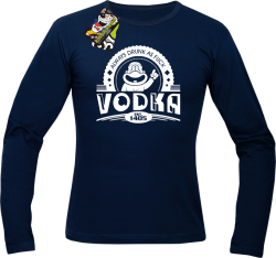 Vodka Always Drunk as Fuck - Longsleeve męski granat
