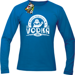 Vodka Always Drunk as Fuck - Longsleeve męski niebieski