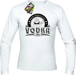 Vodka Always Drunk as Fuck - Longsleeve męski biały
