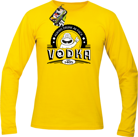 Vodka Always Drunk as Fuck - Longsleeve męski żółty