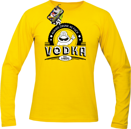 Vodka Always Drunk as Fuck - Longsleeve męski