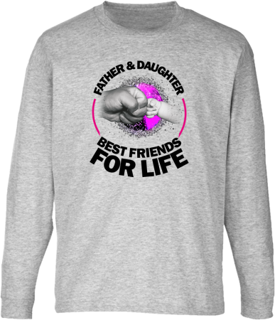 Father & daughter best friends for life - Longsleeve dziecięcy