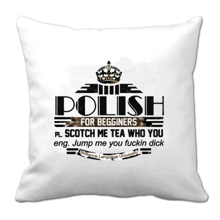 POLISH for begginers Scotch me tea who you - Poduszka