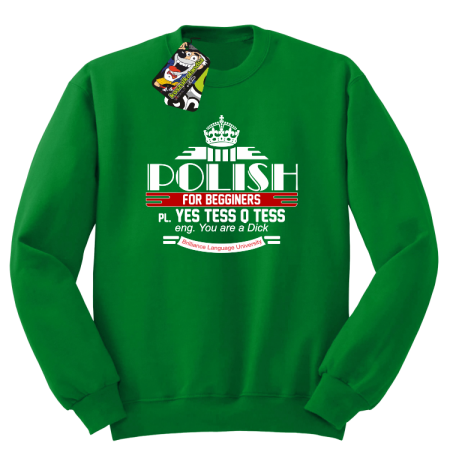 Polish for begginers Yes Tess Q Tess - Bluza męska standard bez kaptura