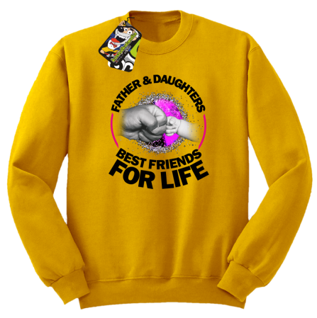 Father and Daughters best friends for life - Bluza męska STANDARD