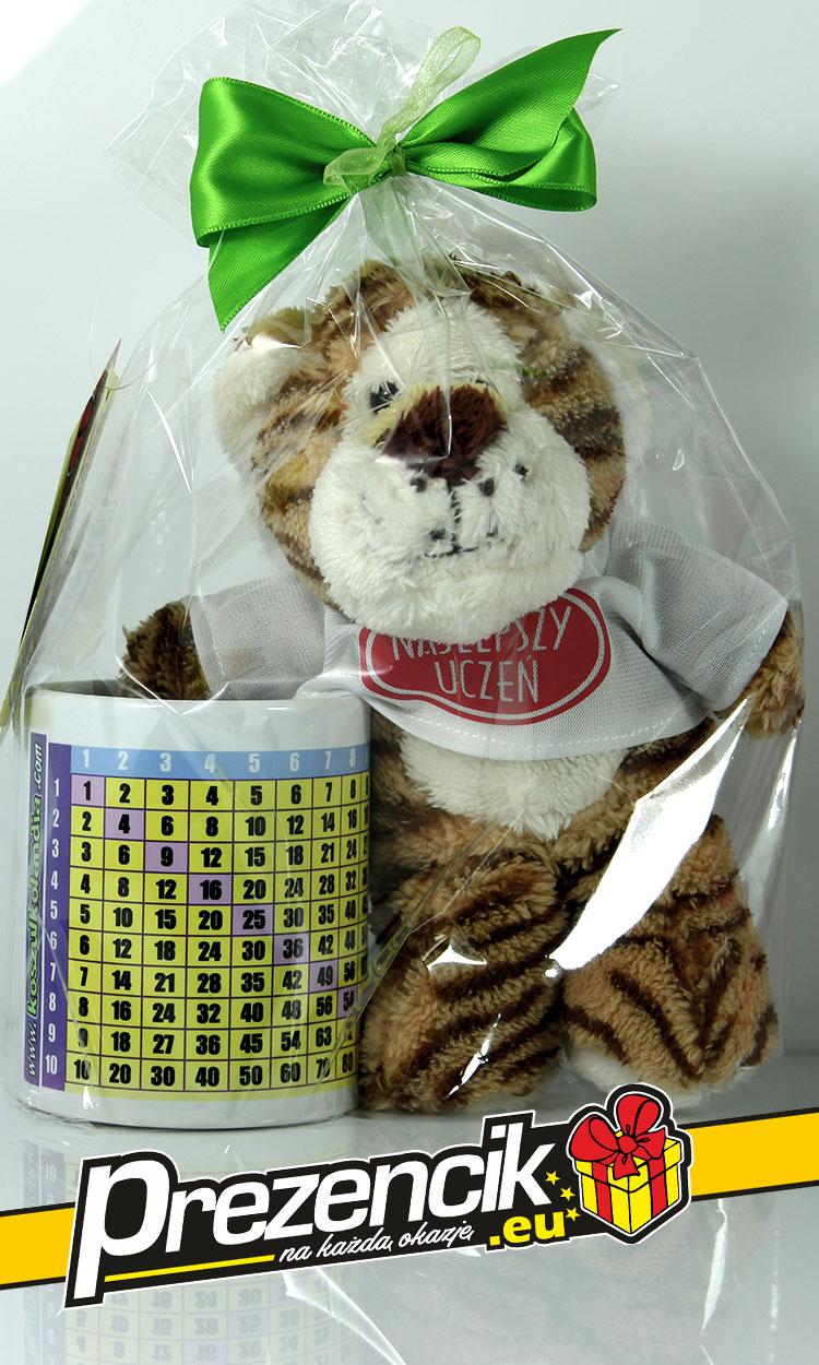 Tygrysek Najlepszy Uczeń + kubek Tabliczka Mnożenia